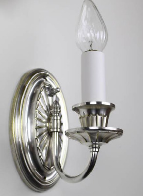 Adams Style Sconces with Restored Silver Plate Finish.