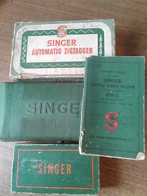 Vintage Singer Sewing Machine Attachments Zigzagger and Buttonholer