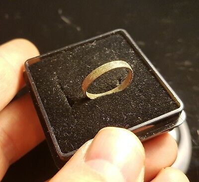 Ancient Late Roman Bronze Ring 300-400 AD  - SIZE 16mm #GY10