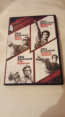 Dirty Harry Collection: 4 Film Favorites (DVD, 2010, 4 Discs ) ~  Clint Eastwood
