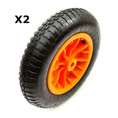 "2x 14"" 3.50-8 Trailer Jockey Wheel Barrow Pneumatic Tyre Wheel Inner Tube JetSki"