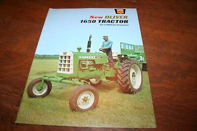 Oliver New 1650 Tractor Brochure Row Crop 4WD Ricefield Wheatland High Crop 1965