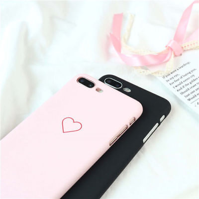New Fashion Love Heart Painted Phone Case For iphone 5S 6 7 8 Plus Couples Case