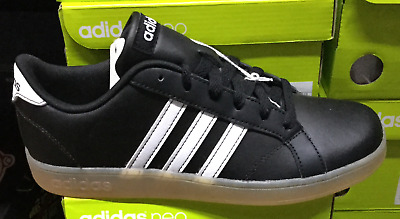 ADIDAS Baseline K GS Black White Big Kids Youth Sneakers AH2243 Sz4Y-7Y SSO5 738399985