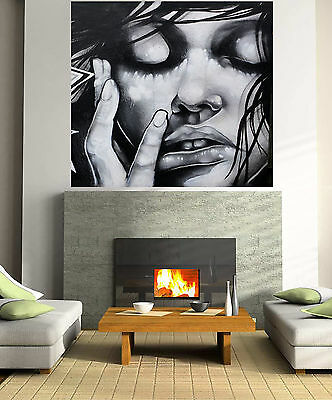 Large Art Painting Street Human Face Urban Canvas Australia by Pepe original