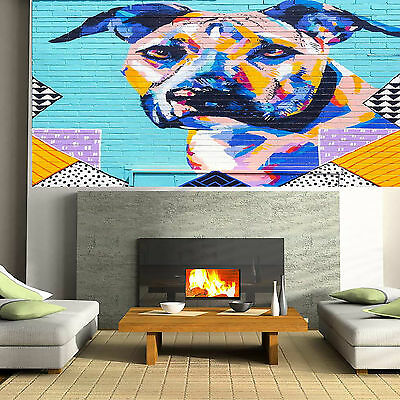 Large Art Painting Street Dog Pet Abstract  Urban Canvas Australia by Pepe