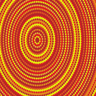 Australial painting  dreaming sun art print canvas  dots 100cm x 100cm