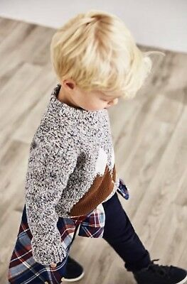 Sold Out Zara Baby Boy Mountain Sweater 3 - 4 Years! Gray 3T