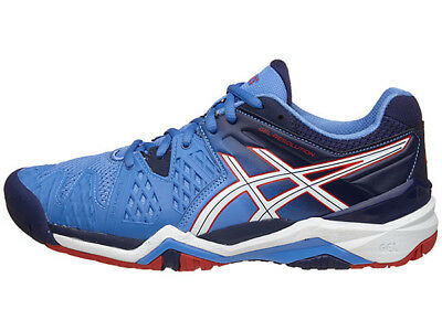 New Asics GEL-RESOLUTION 6 Man's Tennis Shoes US 12 E500Y 9043 BLACK/BLUE