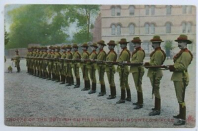 C1910 Pt Npu Postcard Troopers The British Empire Victorian Mounted Rifles A23