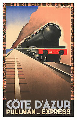 TX200 Vintage Cote D/'Azur Deluxe Train French Raliway Travel Poster RePrint A4