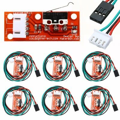6x Endstop Limit Mechanical End Stop Switch With Cable 22AWG for CNC 3D Printer