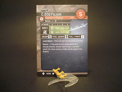 Axis and Allies War at Sea - 41/60 C.202 Folgore - Fighter (C) -IT(#38)