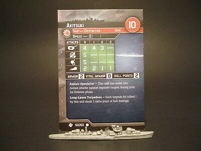 Axis and Allies War at Sea - 50/60 Akitsuki - Destroyer (C) -JP(#41)