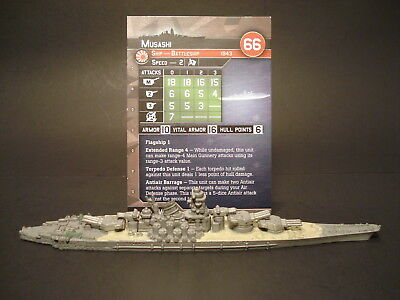 Axis and Allies War at Sea - 56/60 Musashi - Battleship (Rare) -JP(#44)