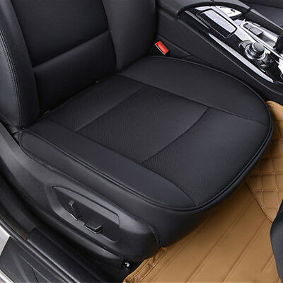 1*PU Leather Deluxe Car Cover Seat Protect Cushion Black Front Cover Universal.