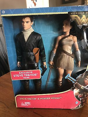 DC Comics Wonder Woman & Steve Trevor Action Figure Barbie Doll 2 Pack 2017