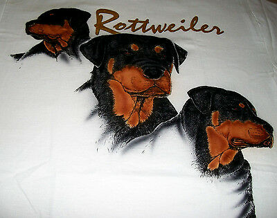 "Rottweiler T-shirt  "" Natural "" 2XL ( 50 ~ 52 )"