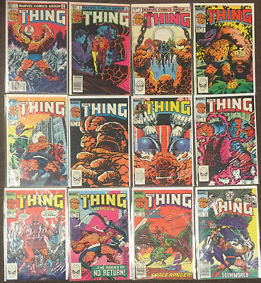 The Thing Complete Set 1 2 3 4 5 6 7 8 9 10 11 - 36 Marvel Comics Fantastic Four