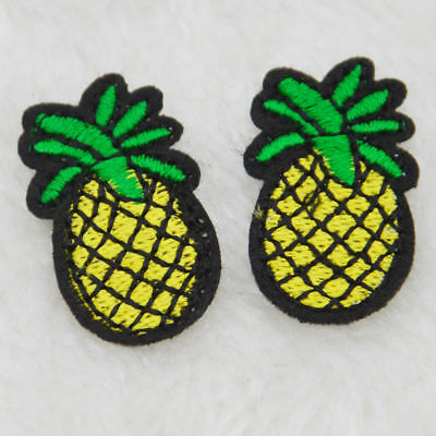Mini pineapple Embroidery Ironon patch sew clothes Hat Applique badge Bag Fabric