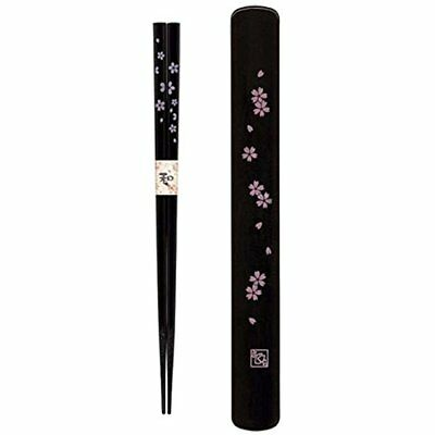 S-3643, Japanese Travel Plastic Chopsticks And Case Sets, Cherry Blossom