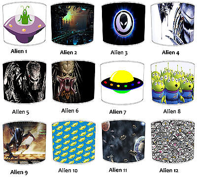 UFO Outer space Aliens Lampshades, Ideal To Match UFO Outer Space Duvet Covers.