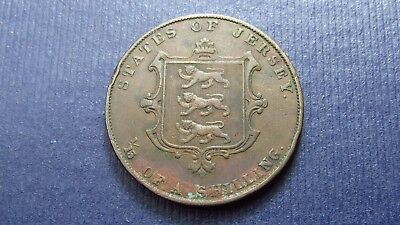 1861 Brittish States Of Jersey 1/15 Of A Shilling