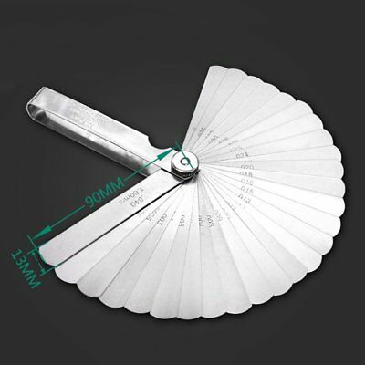 89A32 32 Blades High Accuracy Thickness Gage Set Stainless Steel Feeler Gauge&X