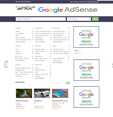 Classified Listings Website Online Business For Sale (Portal, Agents, Agency)
