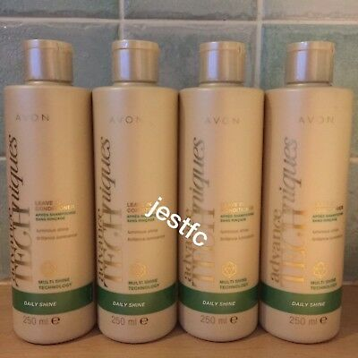Avon~ADVANCE TECHNIQUES~Daily Shine~LEAVE IN CONDITIONER~x4 Lots