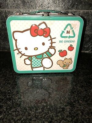 Vintage Hello Kitty Be Green Tin Lunchbox 1976