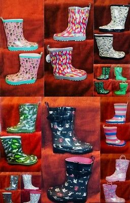 High Quality Kids Girls/ Boys Rubber Boots Wellies Wellingtons