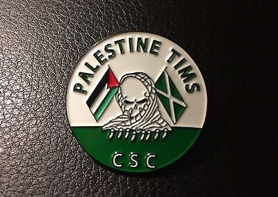 Palestine Tims CSC Celtic Pin Badge Ireland Anti-Fa