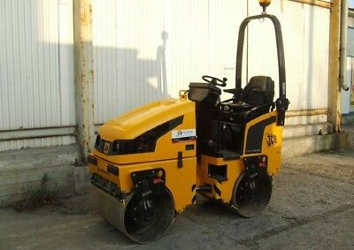 JCB VMT160 RIDE ON ROLLER TWIN DRUM HIRE, suit mini digger