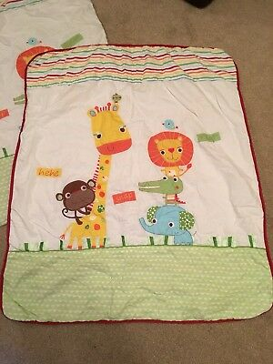 Jungle / Safari / Animal Cot Bed Quilt And Coverlet (Matching set) from NEXT