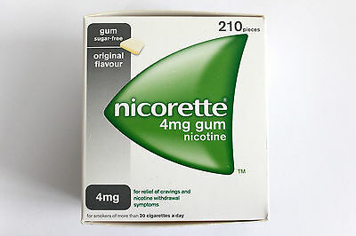 NICORETTE  CHEWING GUM X 210 Pieces (Choose Strength and Flavour)