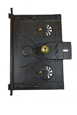Antique Iron and Brass Stove or Oven Door, French.