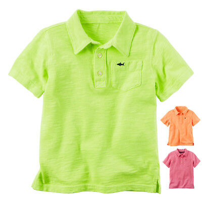 NWT Carter's Boys Brightly Colored Polo 2T 3T NEW