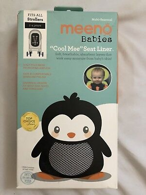 Meeno Baby Cool Me Stroller Seat Liner Age 1-4 Silver FITS ALL NEW