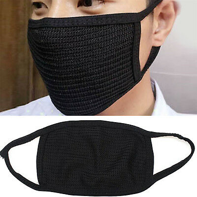 Fashion Unisex Black Health Cycling Anti-Dust Cotton Mouth Face Mask Respirator'