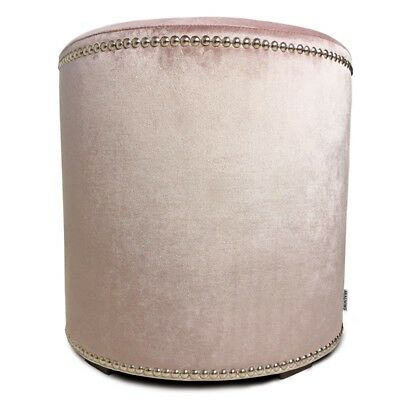 Pouf Charmanter runder Hocker Velvet Glamour Blush Pink