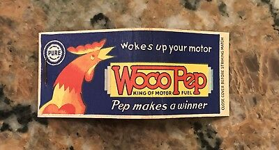 Vintage Woco Gasoline Pep Pure Motor Oil Matchcover