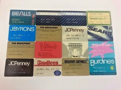 Lot of 16 Vintage Retail Store Cards Credit Charge Card W6