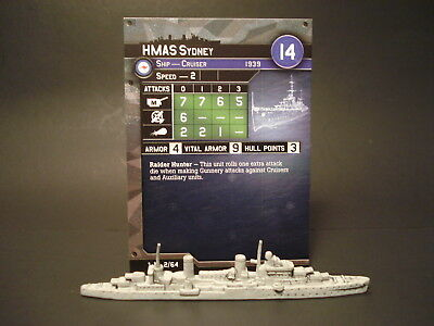 Axis and Allies War at Sea - 2/64 HMAS Sydney - Cruiser (UC) AU(#2)