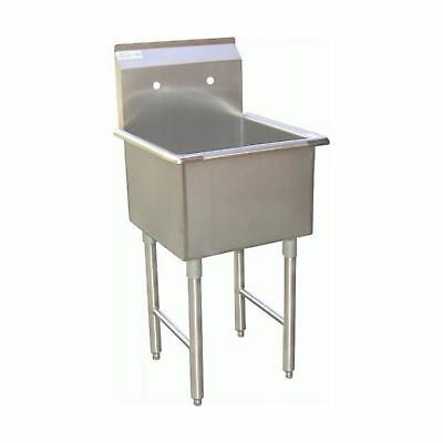 "ACE 1 Compartment Stainless Steel Commercial Food Preparation Sink 18""W x 18""..."