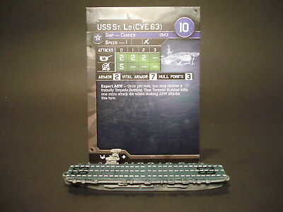 Axis and Allies War at Sea - 31/64 USS St Lo - Carrier (UC) - USA(#18)