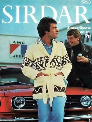 Men's Starsky & Hutch Style Retro Jacket  VINTAGE KNITTING PATTERN, PDF File 301