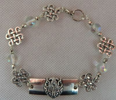 Bracelet Wolf Silver Link Handmade New Accessories Fashion Beaded Celtic
