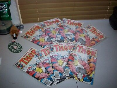 The Mighty THOR Lot of EIGHT copies of #338 Hi-Grades! 2nd app of Beta Ray Bill