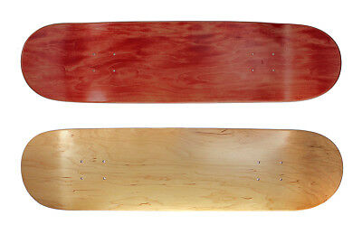 "Blank Skateboard Deck 8.00"" Natural / Premium Wood - Made in Canada 8 Inch Breit"